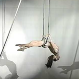 Swinging trapeze Act