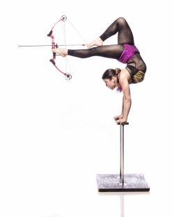 Hand Balance with Feet Crossbow Act