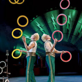 Twin Duo Juggling Act
