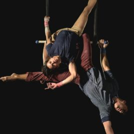 Male Duo Static Trapeze Act