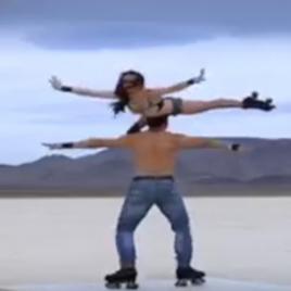 Roller skating duo