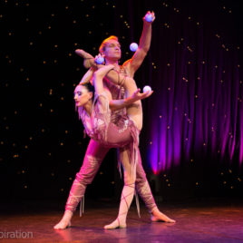 Duo acro Juggling / Contortion / Ballet Point / Aerila loop