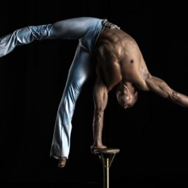 Hand balance act / Chinese pole